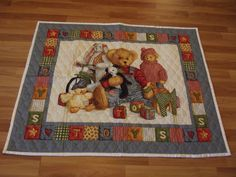 Beautiful Teddy Bear Baby Quilt. Great by Deannaroserichardson, $25.00