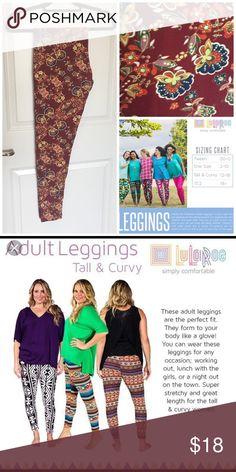 TC Leggings Colorful paisley pattern on the famed LuLaRoe butter leggings. NWOT LuLaRoe Pants Leggings