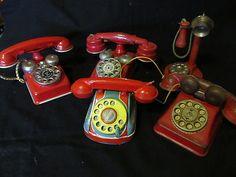 Vintage Tin Children Phones