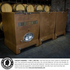 American-made Concrete Wine Tanks by Sonoma Cast Stone Beer Maker, Wine Vine, Home Brewery, Beer Snob, Cast Stone, How To Make Beer, Best Beer, American Made, Craft Beer