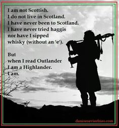 I am a Highlander!  Does having Scottish roots via Nova Scotia count?  I think yes!