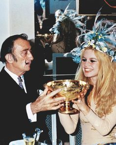 Salvador Dali and Brigitte Bardot, 1960s