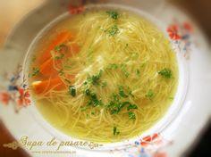 supa de pui cu taitei Turkey Recipes, New Recipes, Soup Recipes, Chicken Recipes, Cooking Recipes, Chicken Soup, Hungarian Recipes, Romanian Recipes, Good Food