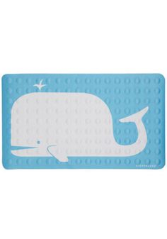 non slip bath mat would be a good thing to have with a toddler, I suppose. This one's pretty darn cute!