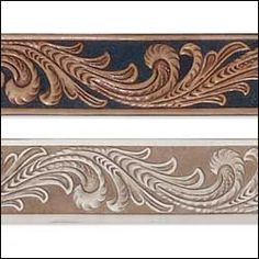The Identity Store | Life Style Arts Crafts, Clothes & Accessories | Embossed Floral Vine Belt Blank 1-1/2""