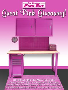 Enter to win ALL this!! No purchase necessary! Visit our site www.theoriginalpinkbox.com and click the sweepstakes tab to enter. http://theoriginalpinkbox.com/sweepstakes/ Contest ends January 27, 2015. @theoriginalpinkbox #free #pink #tools #toolboxes
