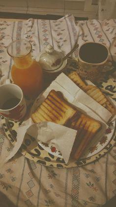 #breakfast #toast #orangejuice #coffee