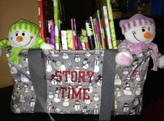Thirty-one medium utility tote ... Great for storing books.