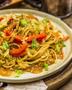 Easy, flavorful, and oil-free, this Asian Cabbage Noodle Stir Fry is packed with feel-good ingredients and ready in 30 minutes or less. #wholefoodplantbased #vegan #oilfree #glutenfree #plantbased   monkeyandmekitchenadventures.com