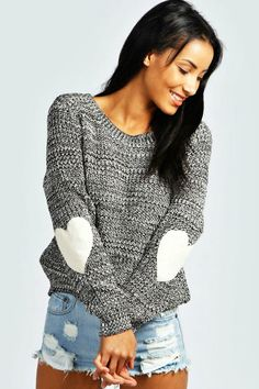 Every Heart Beat Knit Sweater: Cozy up for the weekend in the super comfy Every Heart Beat Knit Sweater! This cute, slouchy sweater is ideal for the days when you're relaxing at home or at the local coffee shop! Order larger for an oversized fit. Sizes: S-XL TheChicFind.com