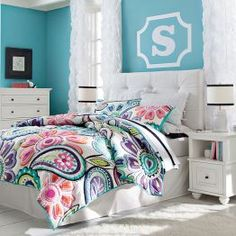 Stencil...Girls Bedroom Furniture & Girls Room Ideas | PBteen