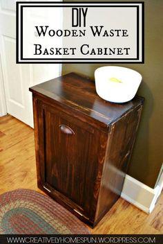 DIY Wooden Waste Basket Cabinet