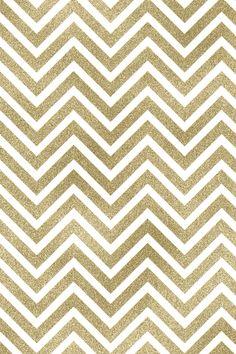 Gold & White Chevron Pattern