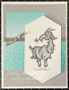 When you need to create a birthday card and want to make it fun, choose the playful images and amusing greetings of the Way to Goat Stamp Set. Goats, Stamping, Birthday Cards, Create, Blog, Fun, Ideas, Bday Cards, Stamps