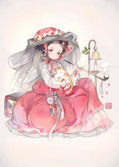 Drawing People Poses Artworks New Ideas Korean Anime, Korean Art, Asian Art, Kawaii Anime, Manga Art, Manga Anime, Chibi, Korean Illustration, Korean Painting