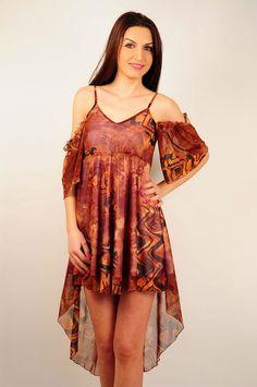 Rochie de vara RVL, asimetrica. Cold Shoulder Dress, Dresses, Fashion, Vestidos, Moda, Fashion Styles, Dress, Fashion Illustrations, Gown