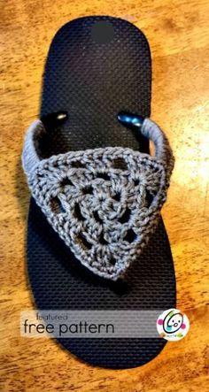 flip flop free crochet for women by Snappy Tots. It's a great diy idea!