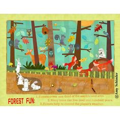classroom themes forest | Found on childrensillustrators.com