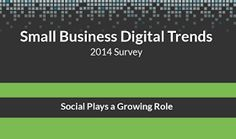 [INFOGRAPHIC] Small Business #DigitalMarketing and #SocialMedia Trends 2014