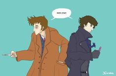 #38 - Because you KNOW this would happen if they did a crossover episode(The Best, Worst, And Weirdest Doctor Who/Sherlock Crossover Fan Art)