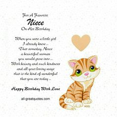 Birthday Wishes Funny Happy Niece Religious Poems