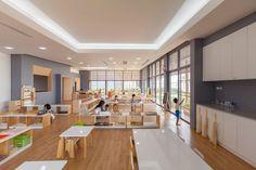 School Building Design, Building Layout, School Design, Daycare Design, Outdoor Learning Spaces, Kindergarten Design, Office Plan, Wooden Slats, School Architecture