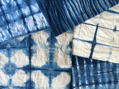 Indigo shibori cushions in the making. Hand dyed, thanks to a fabulous workshop at Blake & Taylor, and now ready to be stitched up. A custom order by an awesome client saw me up to my elbows in blue dye - totally worth it! cover. #shibori #indigo #cushions #handmade #madetoorder