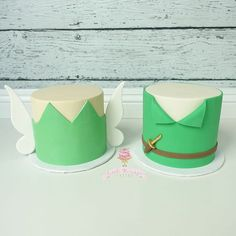 Tinkerbell and Peter Pan Cakes
