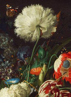 Jan Davidsz de Heem - Vase of Flowers (detail) 1660.