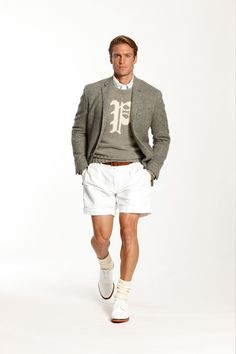 Ralph Lauren Spring 2014 Menswear Collection Slideshow on Style.com This look is only good if you have those legs!! boooo!