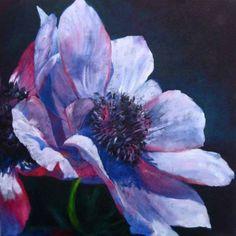 Purple Passion by Brenda Ferguson -- Brenda Ferguson Watercolor Disney, Watercolor Flowers, Big Flowers, Amazing Flowers, Arte Floral, Artist Gallery, Funny Art, Tree Art, Original Paintings