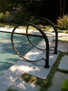 Blacksmith : Custom Designed Pool Railing : Hand Forged Steel