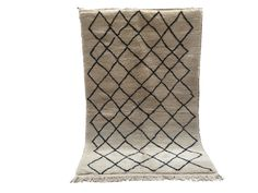 5x8 TRIBAL RUG 100% Authentic Vintange Azilal Moroccan Large rug Wool Beni Ourain moroccan oriental area rug berber handmade Kilim