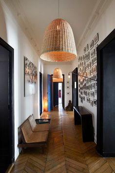 Appartement Parisien - The entrance contemporary-hall