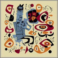 Mister Retro indeed. {Wail On Art Serigraph by Derek Yaniger}