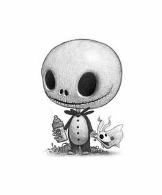 Baby Jack Skellington, & his dog Zero. Fan art, signed print, by Will Terry Nightmare before Christmas – tattoo Halloween Illustration, Halloween Drawings, Halloween Things To Draw, Will Terry, Desenhos Halloween, Tim Burton Art, Tim Burton Drawings, Burton Burton, Tim Burton Sketches