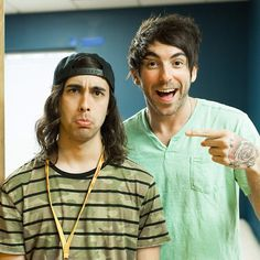Vic Fuentes of Pierce The Veil & Alex Gaskarth of All Time Low Emo Bands, Music Bands, Rock Bands, Pierce The Veil, All Time Low, All About Time, Music Stuff, My Music, Music Things