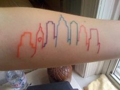 What does chicago skyline tattoo mean? We have chicago skyline tattoo ideas, designs, symbolism and we explain the meaning behind the tattoo. The Words, Seattle Skyline Tattoo, Denver Skyline, City Outline, See Tattoo, Tattoo Pics, Tattoo Art, Philadelphia Skyline, Tattoo Addiction