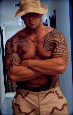 Tattooed military men . . . Yum