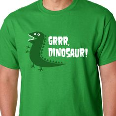GRRR Dinosaur! Peppa Pig! I love this shirt for brother