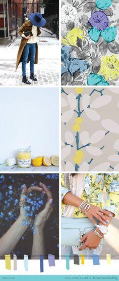 A perfect palette for the start of autumn. I'm loving it with these beautiful blue tones. Colour Pallete, Colour Schemes, Color Trends, Color Patterns, Color Combinations, Palettes Color, Look 2018, Mood Colors, Colour Board
