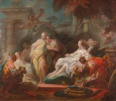 On this day in 1806 Jean-Honoré Fragonard died in Paris. His painting, 'Psyche showing her Sisters her Gifts from Cupid