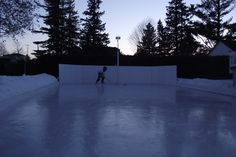 Solo Run March 23rd, 2015, on the Winchester Invitational Backyard Ice Hockey Rink.