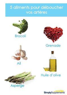 Des artères bouchées sont bien souvent la conséquence d'une mauvaise alimentation. Certains aliments jouent un rôle clef dans la santé des artères mais pas seulement. Lesquels sont-ils ?