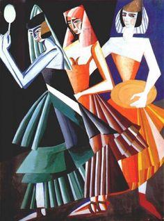 'Costumi per Danza dei sette veli', 1917 di Aleksandra Ekster (1882-1949, Poland)