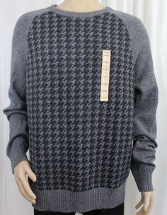 Urban Pipeline Grey and Black Checkered Crewneck Sweater XXL  #UrbanPipeline #Crewneck