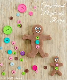 Such a fun sensory play activity for winter and Christmas! (Gingerbread Playdough Recipe)~ BuggyandBuddy.com