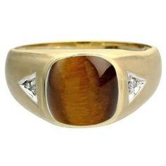 DV Jewels Tiger Eye Gemstone Finger Ring
