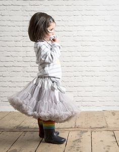 Candy Bow Tutu in Soft Grey available at www.our-kid.co.uk