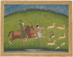 Prince and Princess Hunting Blackbuck | The Art Institute of Chicago